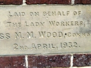 Stone laid on behalf of the lady workers