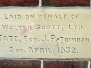 Stone laid on behalf of Walter Scott, Ltd.