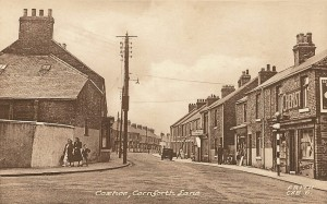 Old photo of Cornforth Lane, Coxhoe