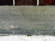 Stone laid on behalf of Raisby Hill Limestone Co. Ltd.