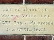 Stone laid on behalf of Walter Scott, Ltd.